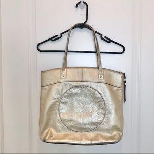 Coach Gold Large Tote Handbag